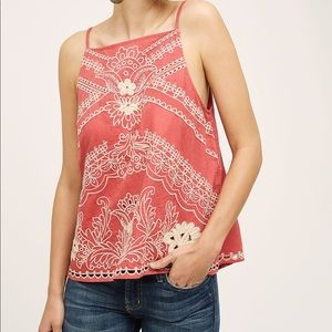 Anthropologie Vanessa Virginia Terracotta tank